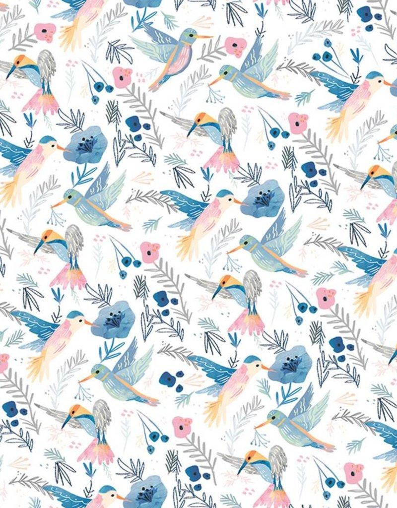 Jillson & Roberts Gift Wrap Roll Hummingbirds