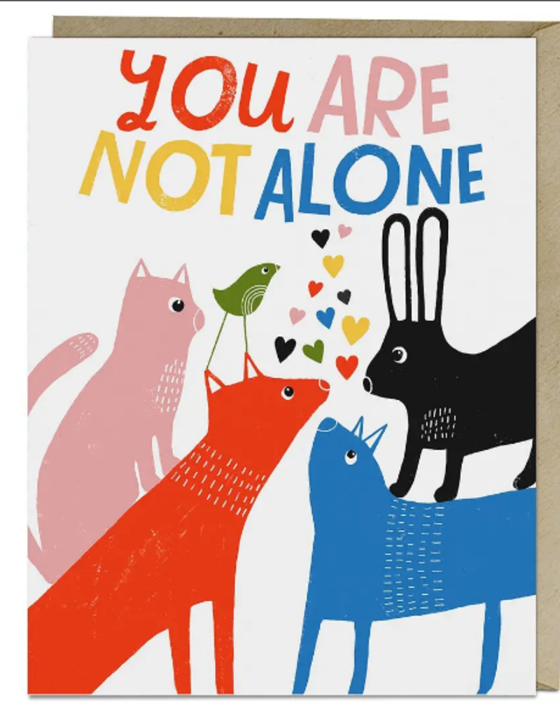 Lisa Congdon Card You Are Not Alone