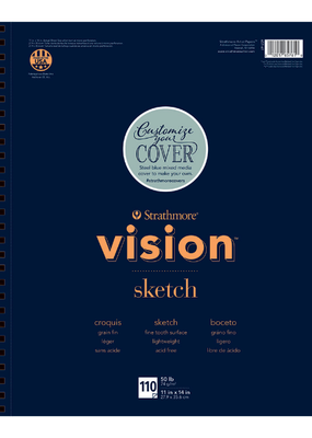 Strathmore Strathmore Vision Sketch Paper Pad Spiral Bound 11 x  14 Inch