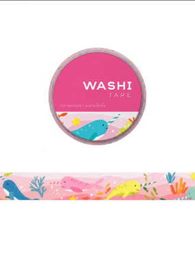 Girl of All Work Washi Narwhals