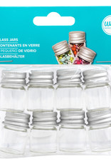 We R Memory Keepers Glass Bottle with Metal Lid Small 8 Pack