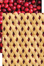 Reminisce 12 X 12 Decorative Paper Cherry Lattice