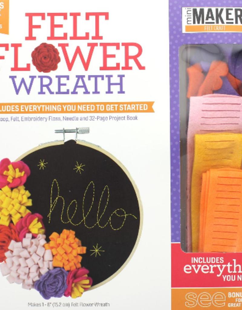 Leisure Arts Felt Flower Wreath Hoop