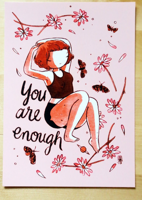 Stasia Burrington Postcard You Are Enough