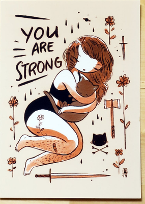 Stasia Burrington Postcard You Are Strong