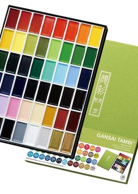 Kuretake Zig Gansai Tambi Watercolors 48 Color Set