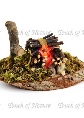 Touch of Nature Miniature Garden LED Fire Pit 4.5 Inch