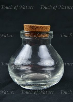 Touch of Nature Mini Glass Wide Mouth Bottle 3 Inch