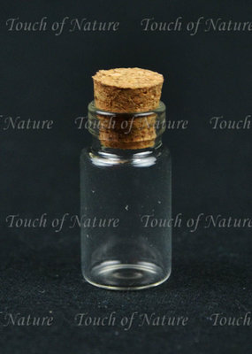 Touch of Nature Mini Glass Bottle 1 Inch Pack of 12