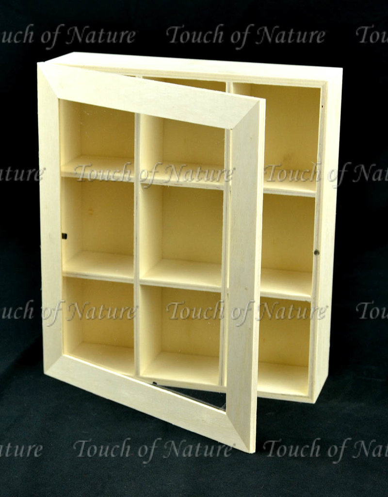 Touch of Nature Plywood Shadow Box with Plexiglass Door