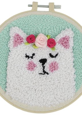 Fabric Editions Punch Needle Kit Cat