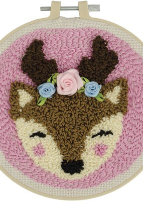 Fabric Editions Punch Needle Kit Deer