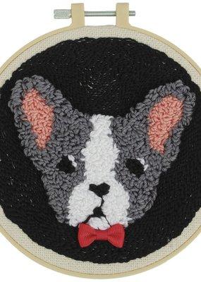 Fabric Editions Punch Needle Kit Bulldog