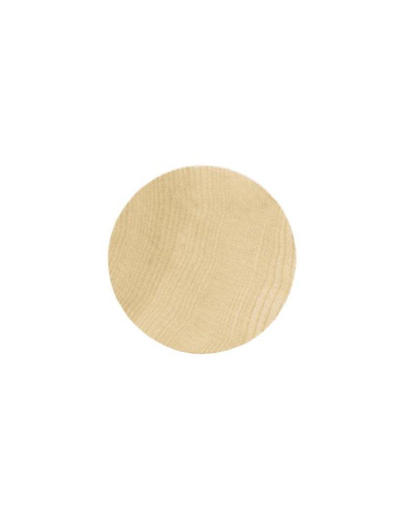 "Lara's Wood Circle 2 3/8 x .25"" Single"