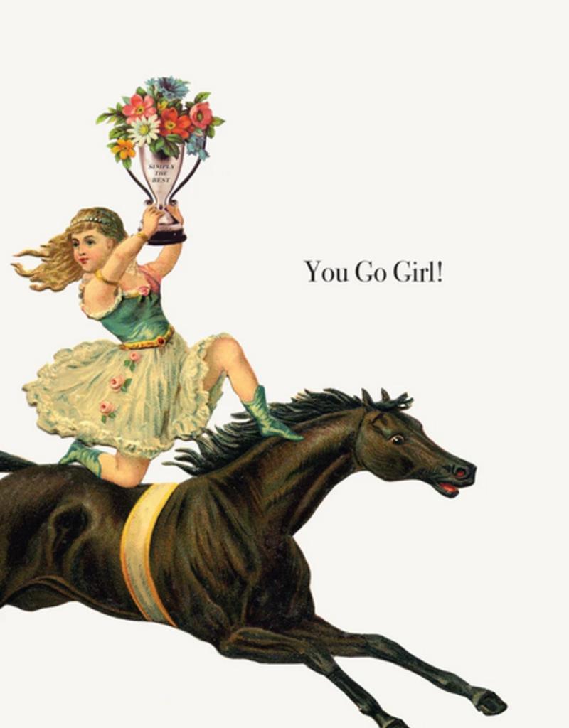P Flynn Design Card You Go Girl