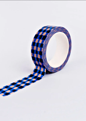 The Completist Washi Blue Check