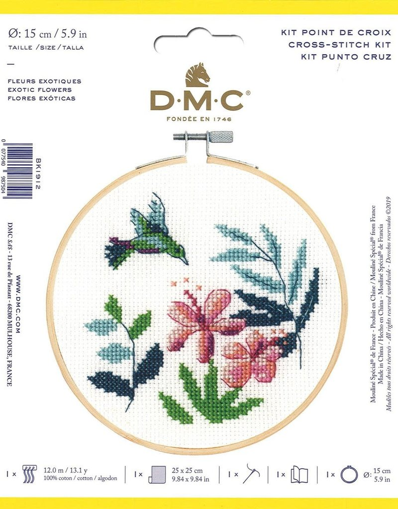 DMC Counted Cross Stitch Kit Exotic Flowers