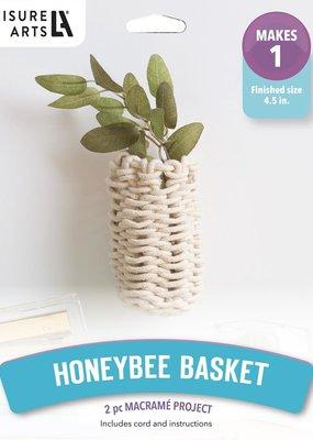 Leisure Arts Macrame Kit Honey Bee Basket