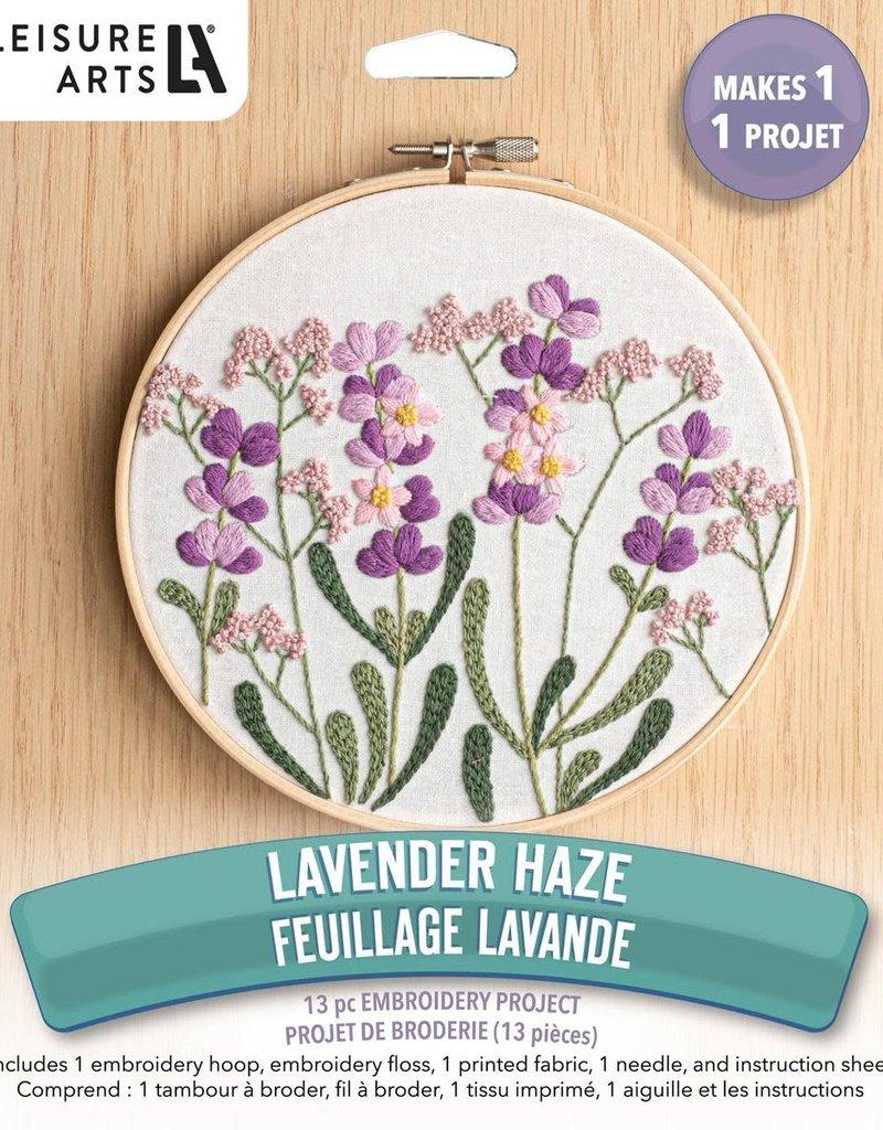 Leisure Arts Embroidery Kit Lavender Haze