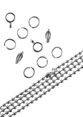 Ball Chain & Finding Set Nickel