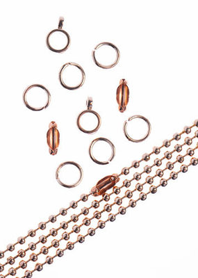 Ball Chain & Finding Set Rose Gold