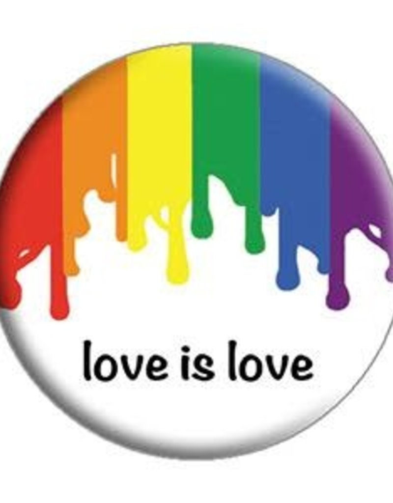 C & D Visionary Button Love is Love 1.5 Inch
