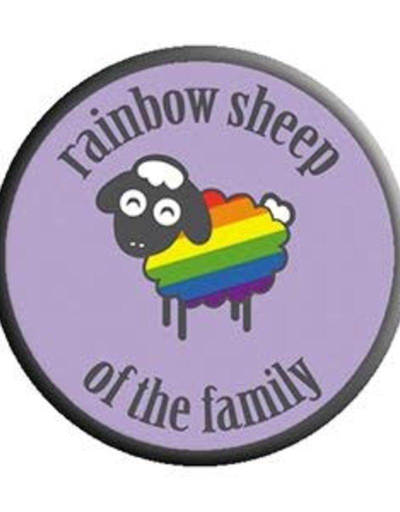 C & D Visionary Button Rainbow Sheep 1.5 Inch