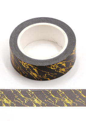 collage Washi Black and Gold Marble