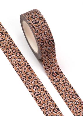collage Washi Glitter Leopard
