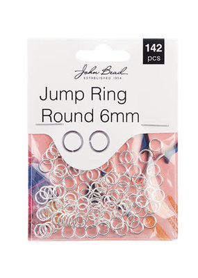 Jump Ring Round 6mm Silver
