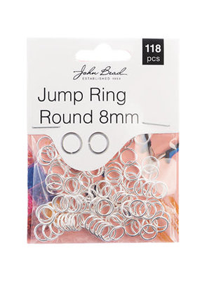 Jump Ring Round 8mm Silver