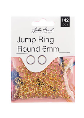Jump Ring Round 6mm Gold