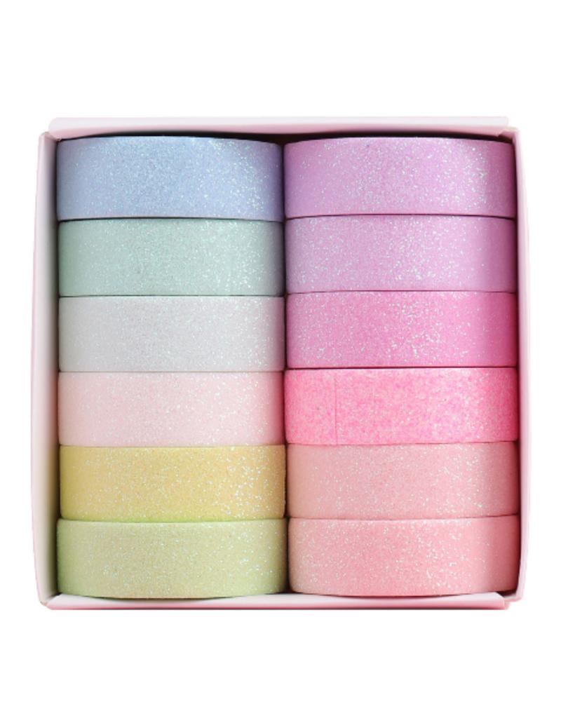 collage Glitter Washi Pastel Set