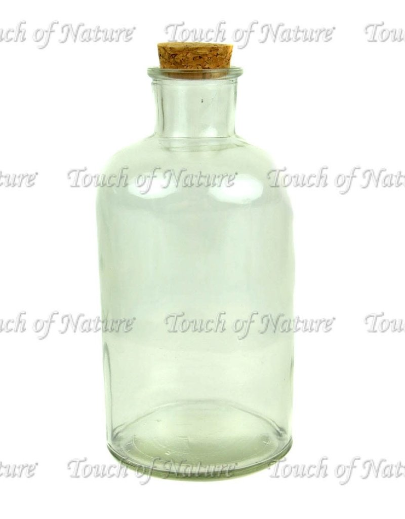 Touch of Nature Glass Bottle with Cork Stopper 7 Inch