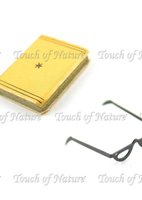 Touch of Nature Miniature Book & Glasses