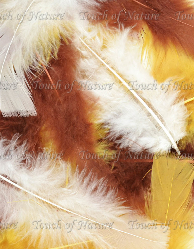 Touch of Nature Feathers Fluffy Turkey Flats 14 Gram Earth Mix