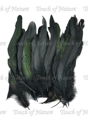 Touch of Nature Black Cocktail Loose Feathers 6-8 Inch