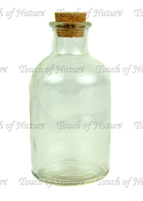 Touch of Nature Glass Bottle with Cork Stopper 5 Inch