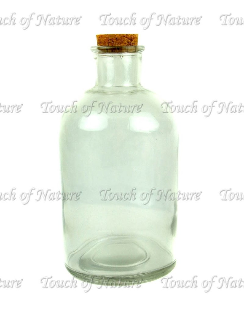 Touch of Nature Glass Bottle with Cork Stopper 8.25 Inch