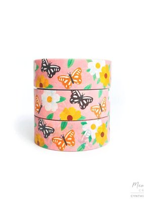 Meow Amor Creative Washi Butterfly Love