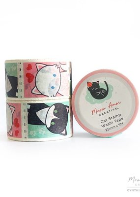 Meow Amor Creative Washi Cat Stamp