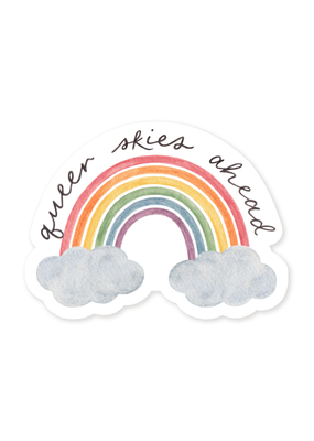 Amy Zhang Sticker Queer Skies Pride