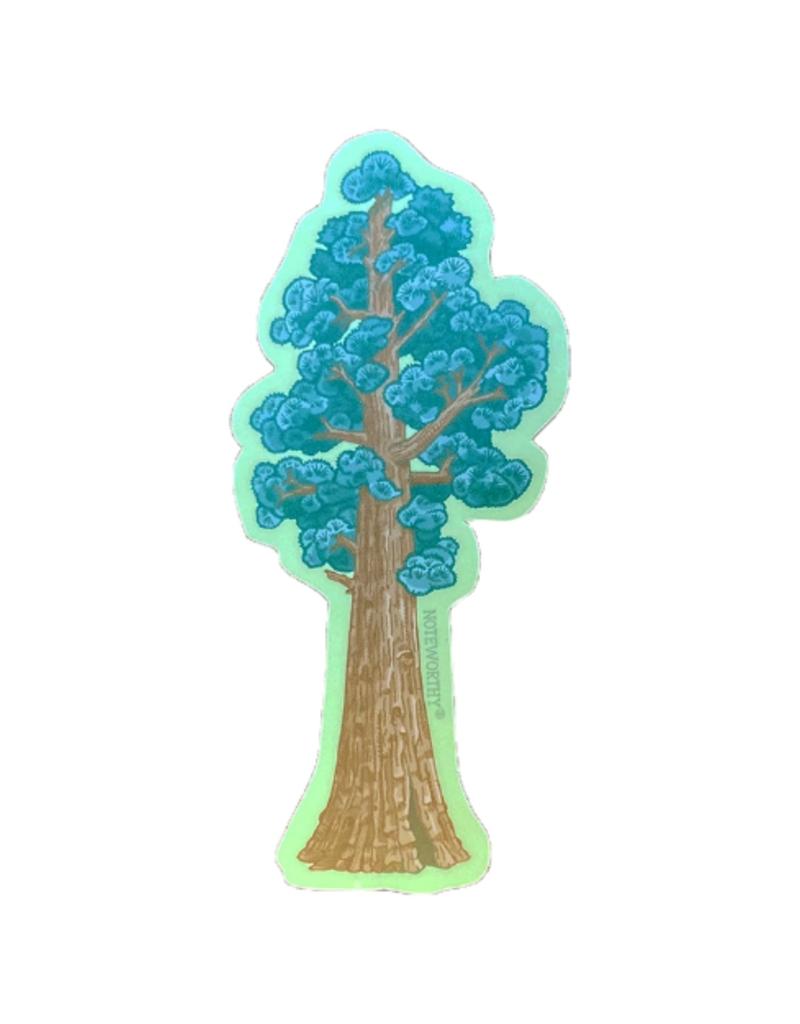 Noteworthy Sticker Sequoia Tree