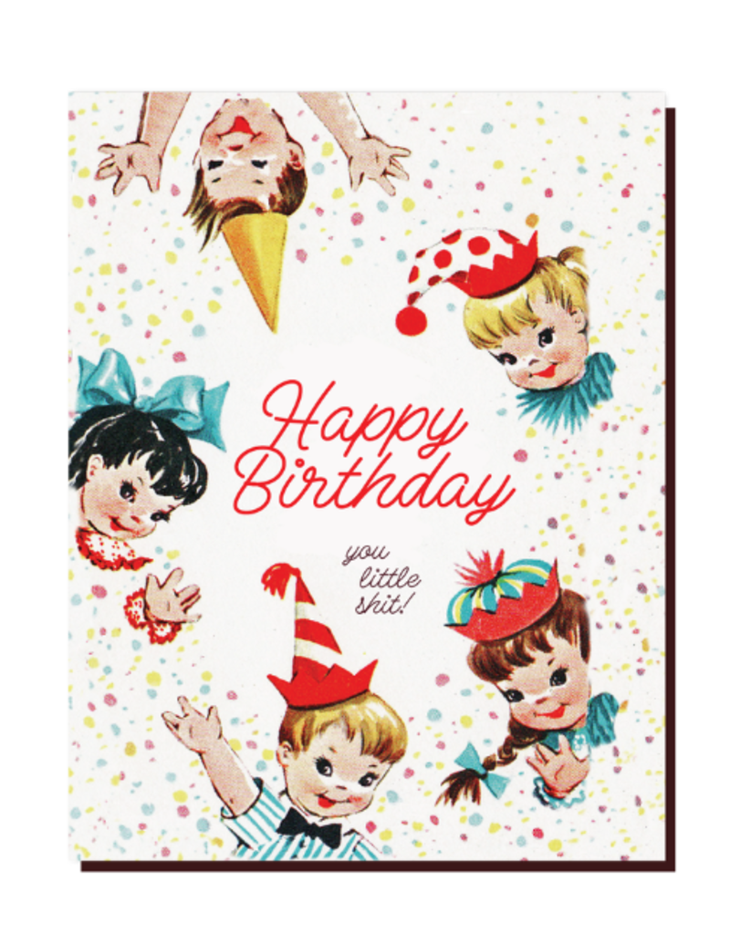 Offensive Delightful Card Little Shit