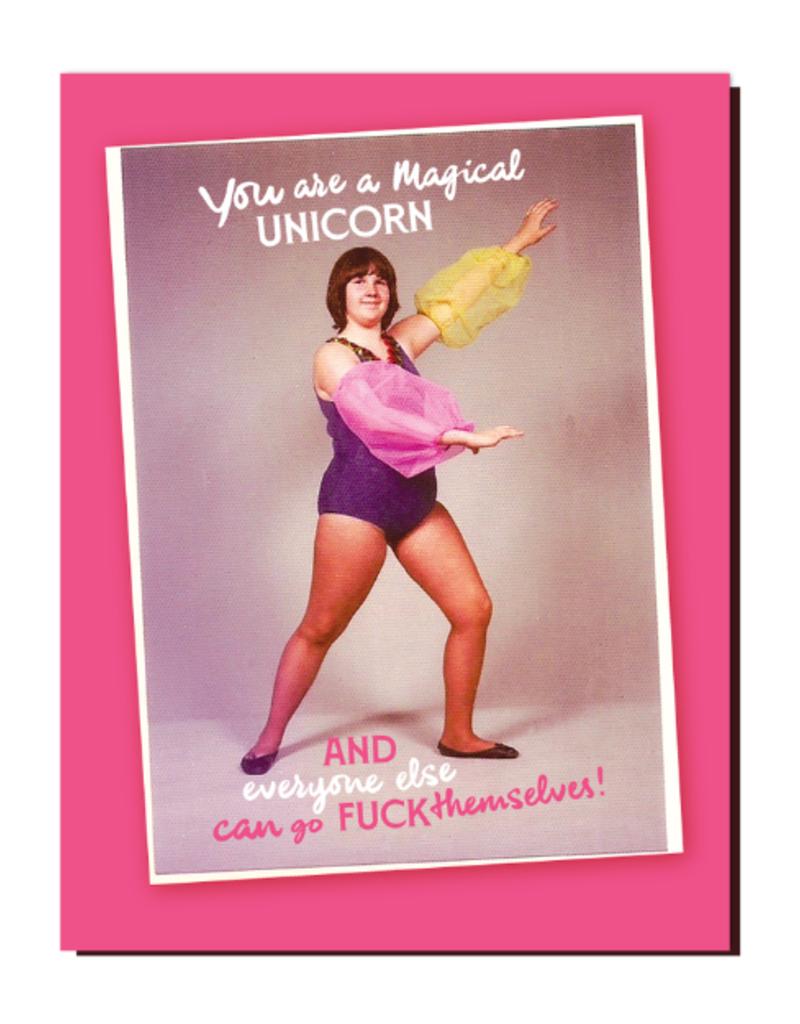 Offensive Delightful Card Magical Unicorn