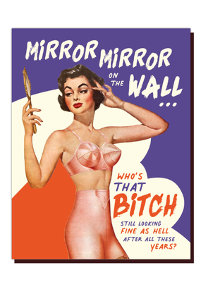 Offensive Delightful Card Mirror
