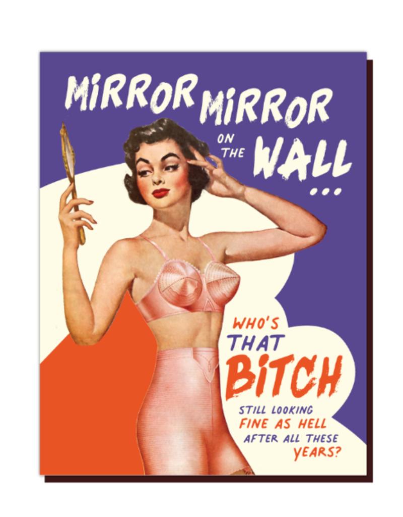 Offensive Delightful Card Mirror