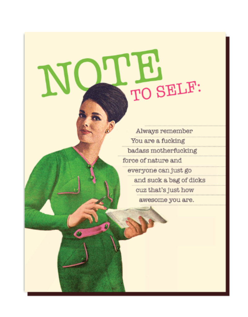 Offensive Delightful Card Note To Self