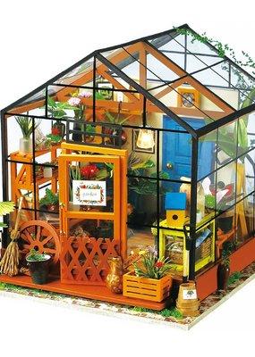 Hands Craft Miniature Dollhouse Kit Cathy's Flower House