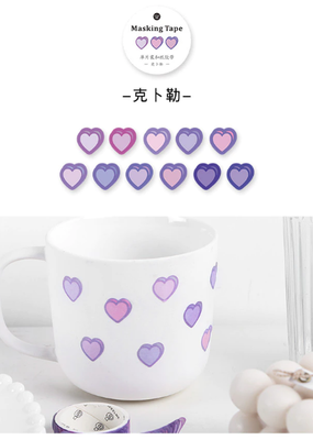 collage Heart Dot Washi Purple